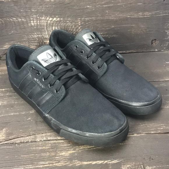 Adidas Seeley Mono Black Lifestyle Shoes Size 11